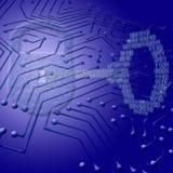 Seguridad de Digitaces Imágenes de archivo libres de regalías