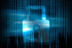 Seguridad de Digitaces ilustración del vector