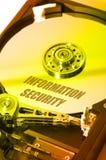 Seguridad de HDD Info Imagen de archivo libre de regalías