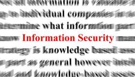 Seguridad de información Fotografía de archivo libre de regalías