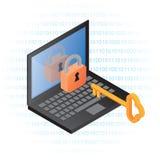 Seguridad de información del ordenador Fotos de archivo libres de regalías