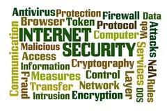 Seguridad de Internet Fotografía de archivo libre de regalías