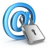 Seguridad de Internet del concepto Imagenes de archivo