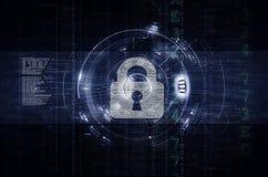 Seguridad de Internet y oscuridad de las ilustraciones de la privacidad de datos Fotos de archivo libres de regalías