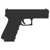 Seguridad de la arma de mano de la pistola y arma militar ilustración del vector