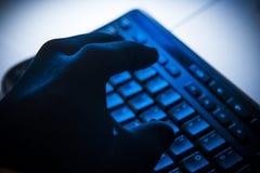 Seguridad de la ciberdelincuencia y de Internet Foto de archivo libre de regalías