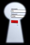 Seguridad de la contraseña Fotos de archivo libres de regalías