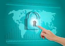 Seguridad de la información sobre Internet Fotos de archivo