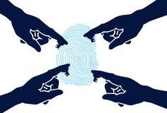 Seguridad de la mano stock de ilustración