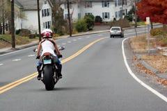 Seguridad de la motocicleta Imágenes de archivo libres de regalías