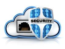 Seguridad de la nube ilustración del vector