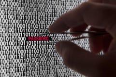 Seguridad de la palabra de paso del ordenador Fotografía de archivo