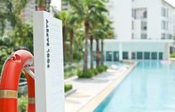 Seguridad de la piscina Fotos de archivo libres de regalías