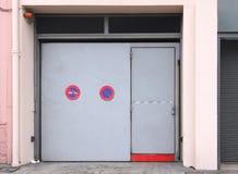 Seguridad de la puerta del garaje Imagen de archivo libre de regalías