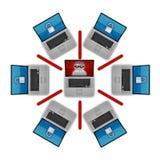 Seguridad de la red Imagen de archivo libre de regalías