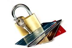 Seguridad de la tarjeta fotos de archivo