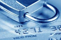Seguridad de la tarjeta de crédito Fotos de archivo