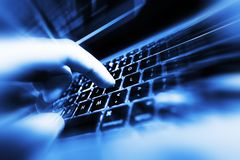 Seguridad de las compras de Internet Fotografía de archivo
