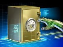 Seguridad de los datos de Digitaces stock de ilustración