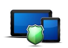 Seguridad de los dispositivos móviles ilustración del vector