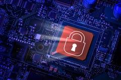 Seguridad de ordenador Imagen de archivo libre de regalías