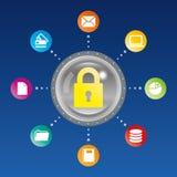 Seguridad de ordenador Foto de archivo libre de regalías