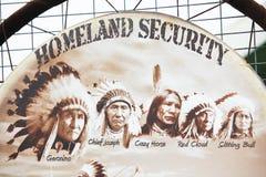 Seguridad de patria Imagen de archivo libre de regalías