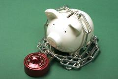 Seguridad de sus ahorros Imagen de archivo libre de regalías