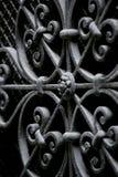 Seguridad decorativa del hierro labrado Imagen de archivo libre de regalías