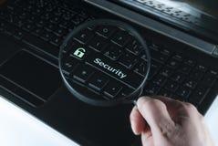 Seguridad del botón Fotografía de archivo libre de regalías
