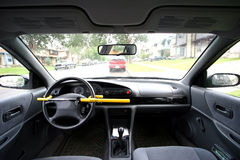 Seguridad del coche Fotos de archivo libres de regalías