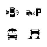 Seguridad del coche Iconos relacionados simples del vector ilustración del vector