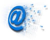 Seguridad del correo electrónico de internet stock de ilustración