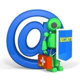 Seguridad del correo electrónico del robot Foto de archivo