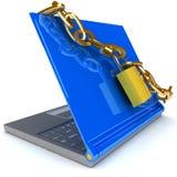 Seguridad del cuaderno Foto de archivo libre de regalías