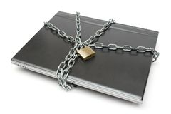 Seguridad del cuaderno Imagen de archivo libre de regalías