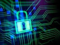 Seguridad del Cyber Fotografía de archivo libre de regalías