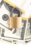 Seguridad del dinero Fotografía de archivo libre de regalías
