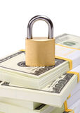 Seguridad del dinero Imágenes de archivo libres de regalías