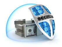 Seguridad del dinero Fotos de archivo libres de regalías