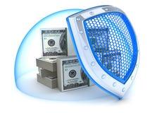 Seguridad del dinero Foto de archivo libre de regalías