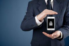 Seguridad del dispositivo móvil Fotografía de archivo libre de regalías