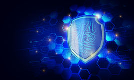 Seguridad del escudo Imagenes de archivo