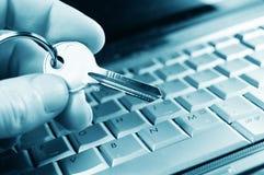 Seguridad del Internet foto de archivo libre de regalías