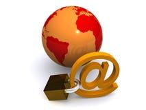 Seguridad del Internet Imágenes de archivo libres de regalías