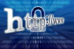 Seguridad del Internet. Imagen de archivo