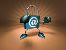 Seguridad del Internet Imagen de archivo libre de regalías