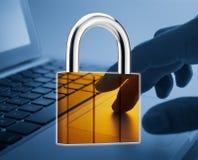 Seguridad del Internet Foto de archivo