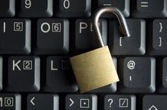 Seguridad del Internet y de ordenador Imágenes de archivo libres de regalías