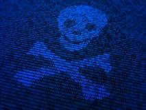 Seguridad del Internet y ejemplo del concepto del malware Imágenes de archivo libres de regalías